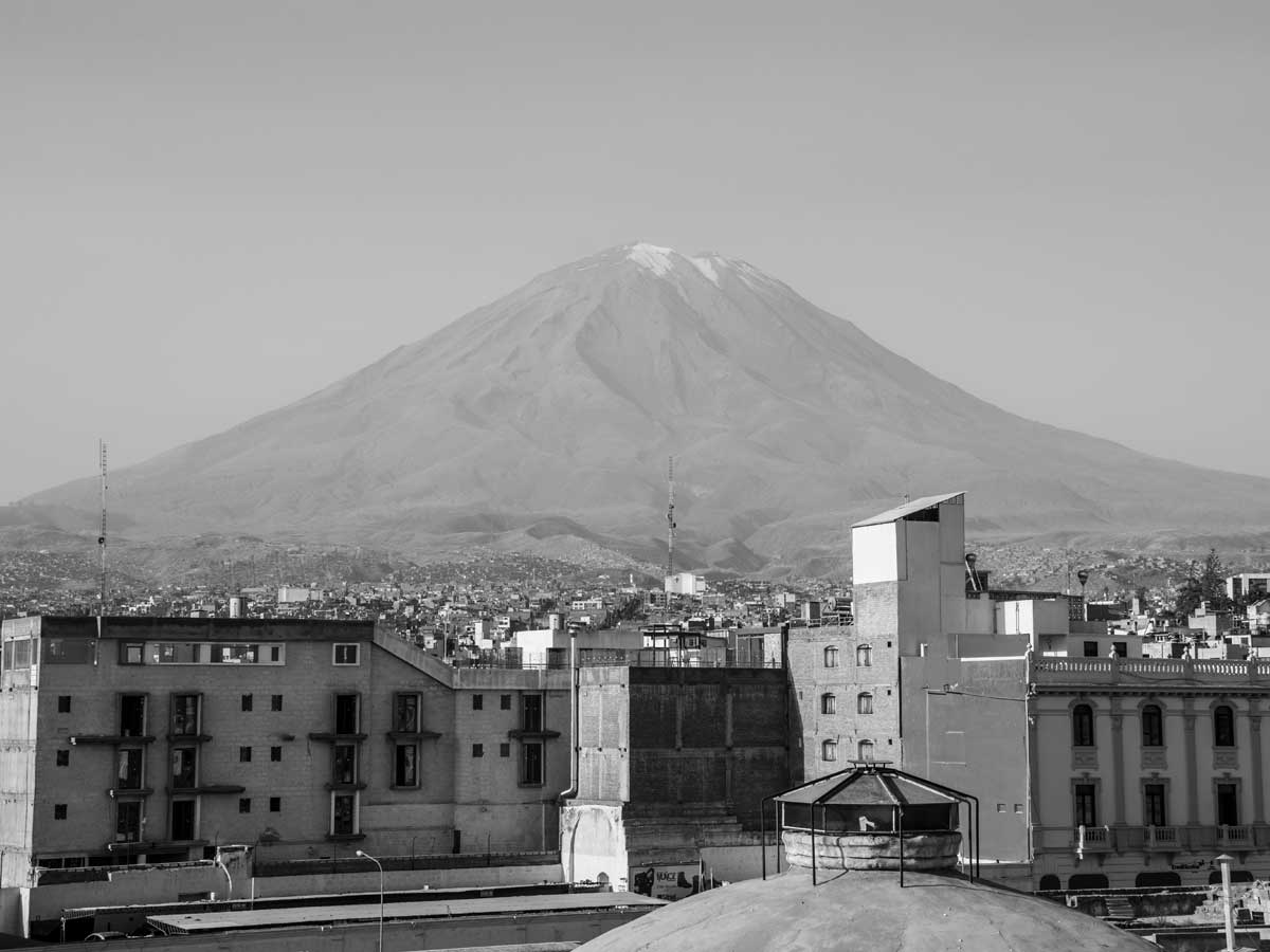View of El Misti Volcano from Arequipa