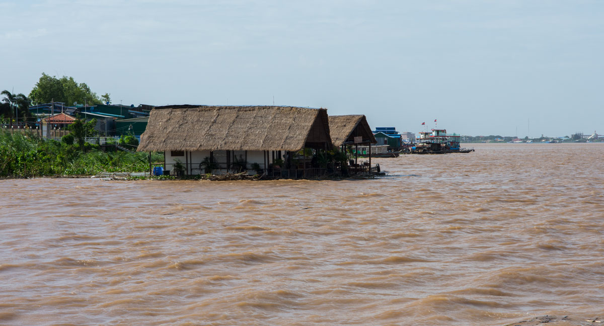 Floatation viewed from the Mekong River